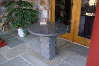 polished round table
