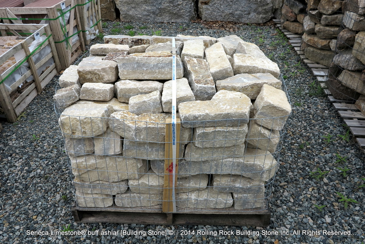Natural Building Stones : Seneca limestone buff ashlar rolling rock building