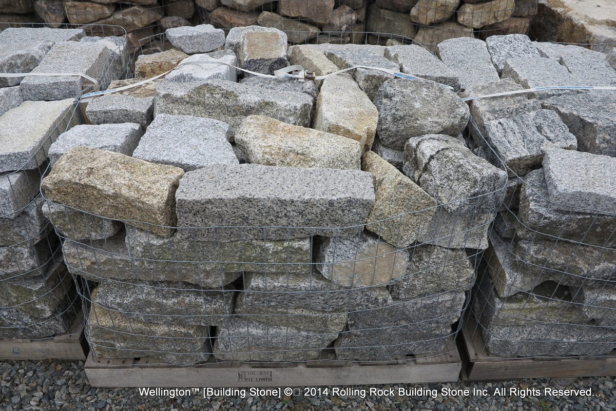 Natural Building Stones : Wellington™ rolling rock building stone inc