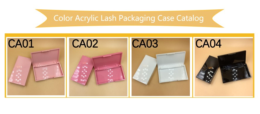 Color Acrylic Lash Packaging Case Catalog
