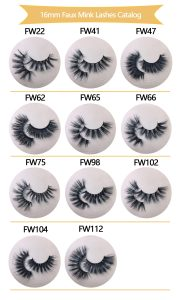 16mm Faux Mink Lashes Catalog 2