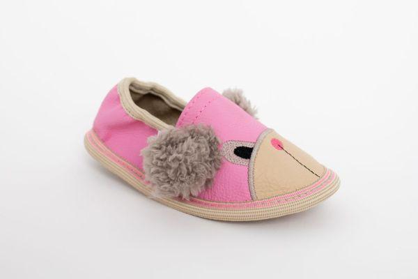 Rolly toddler teddy bears vrtčevski copati roza medvedek