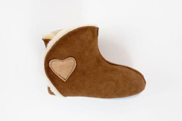 Rolly vrtcevski copati baby winter boots brown za dojencke