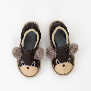 Rolly vrtcevski copati toddler teddy bears brown za malcke