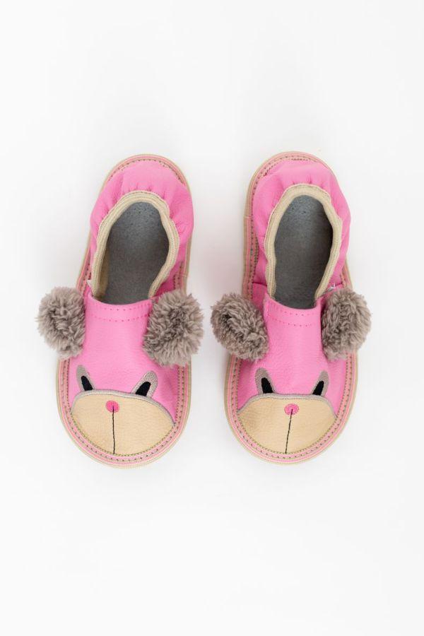 Rolly vrtcevski copati toddler teddy bears pink za malcke