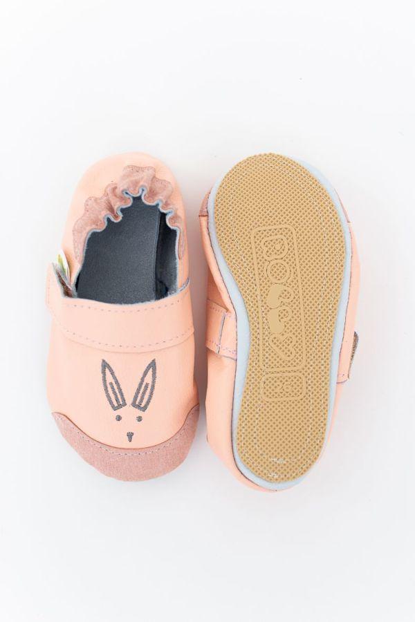 Rolly slippers light orange toddler mini bunny