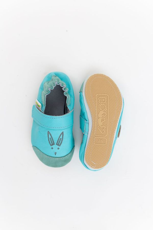 Rolly slippers toddler mini bunny sky blue nonslip