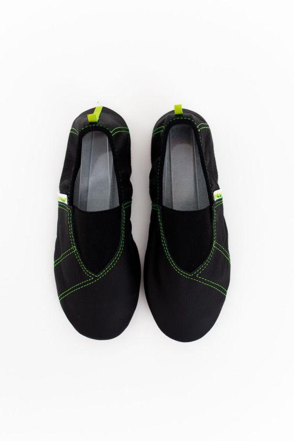 Rolly school slippers for kindergarten line green for boys