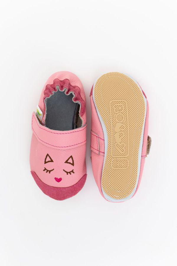 Rolly slippers nonslip toddler mini kitten pink