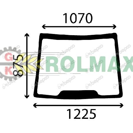 Szyba przednia New Holland TD5000 CASE JX 5089552