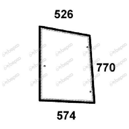 Szyba lewa boczna New Holland CASE 5089600