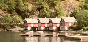 Huisjes in de Noorse fjorden