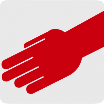Red hand to slap