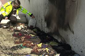 Brandanschlag auf Matratzenlager von Bettlern in Salzburg (Foto: orf.at)
