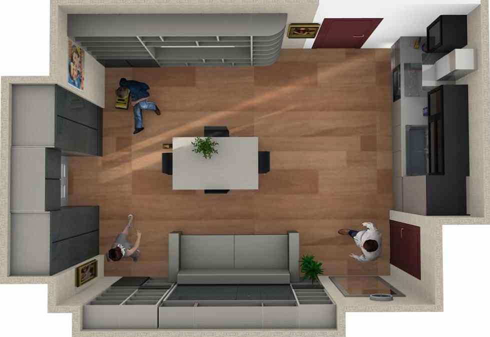 7 idee per arredare un monolocale di 30mq. Arredare Appartamento 20mq Roma Arredamenti