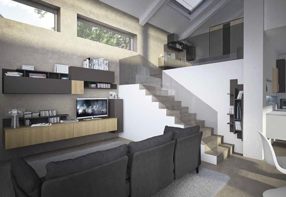 Come arredare un soggiorno rettangolare? Arredare Un Trilocale Di 50 Mq Roma Roma Arredamenti