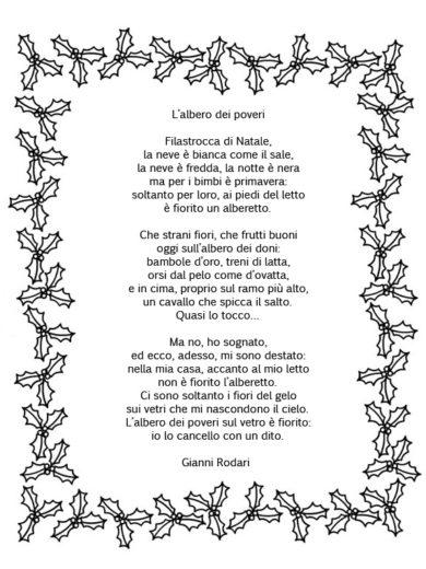 Poesia Natale Rodari.Favole E Poesie Di Natale Per I Bambini Di Roma Romabambina Org