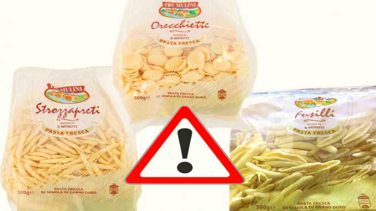 Allerta alimentare: Pasta ritirata dai supermercati. La marca e i lotti