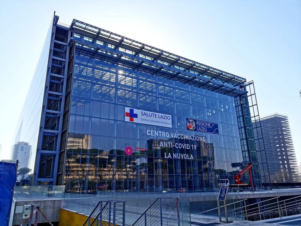 Covid-Lazio: tutto pronto per l'apertura del Centro Vaccinale La Nuvola