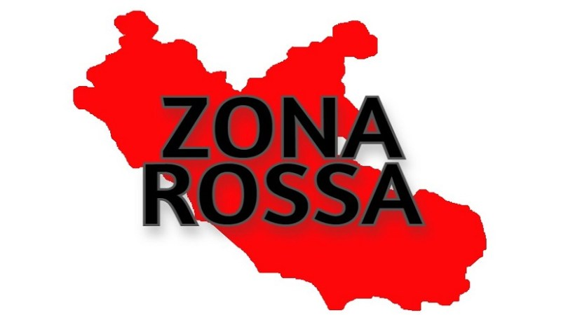 Lazio zona rossa