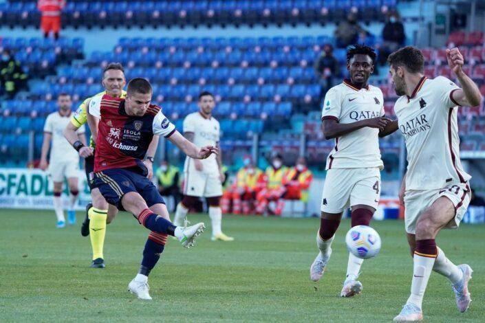 Cagliari 3-2 Roma: continua la crisi di risultati in Serie A dei giallorossi
