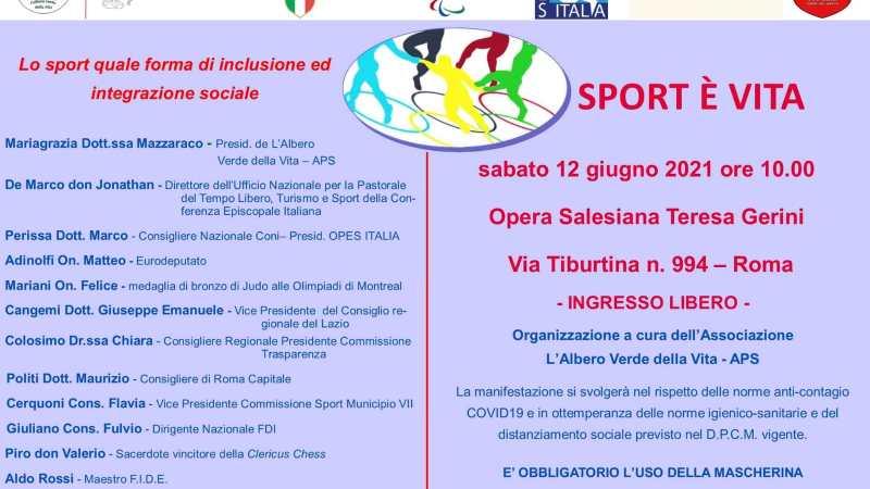 Roma, convegno su sport ed inclusione sociale con prestigiosi relatori