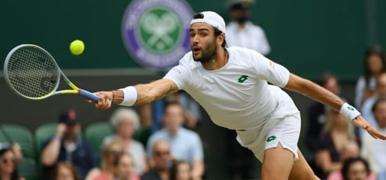 Tennis, Matteo Berrettini domenica giocherà la finale di Wimbledon.