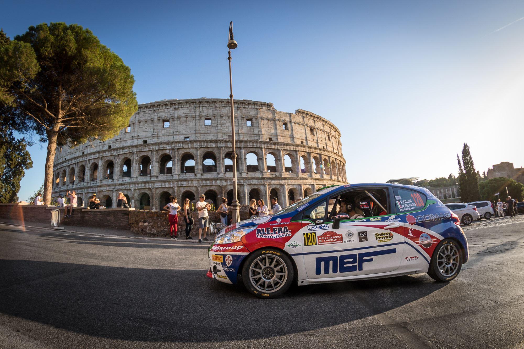 Motori, questa sera la partenza del Rally di Roma(22-25 luglio)