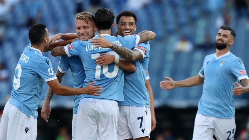 Lazio- Spezia 6-1. Vittoria schiacciante per la prima in casa di Mister Sarri.
