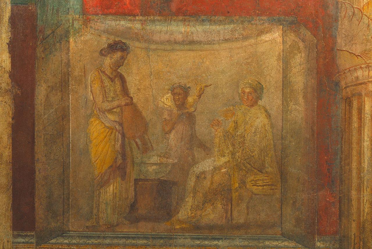 Roma area archeologica del Palatino Casa di Livia  Roma