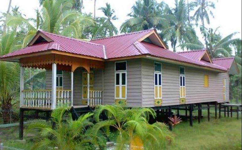 Gambar Rumah Melayu Atap Limas Potong