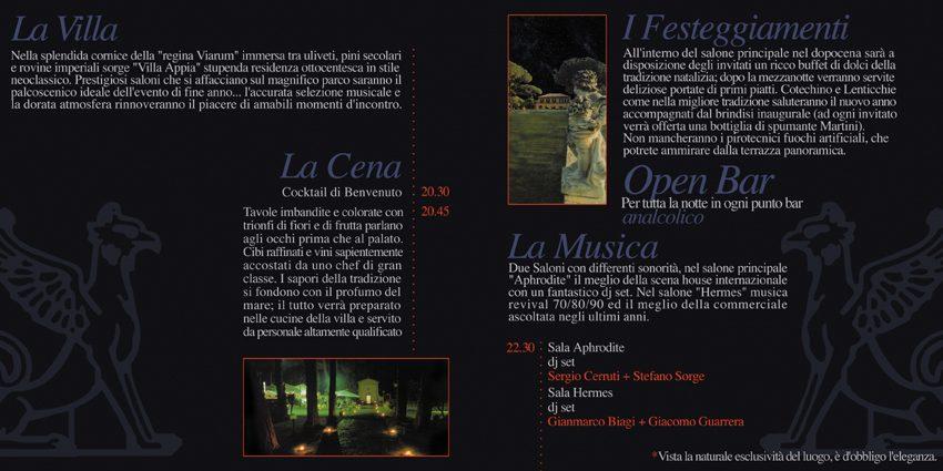 Capodanno Villa Appia Roma 2002 2003 Prenota Ora