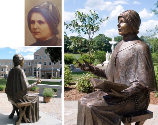 Sculpture by Michael Alfano - Mother Clelia Merloni, 2007 Bronze, Life Size Provincial House, Hamden, CT