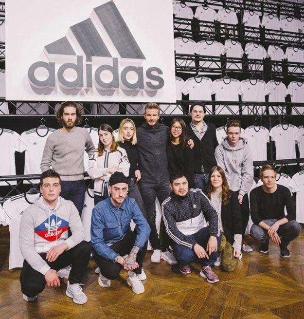 11 créateurs pour une journée workshop ADIDAS avec David Beckham