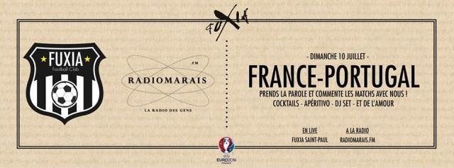FUXIA invite les supporters de l'équipe de France dimanche soir !