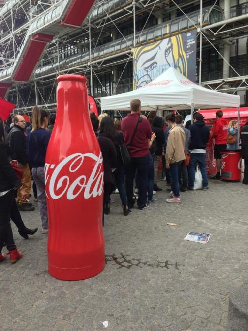 Coca Cola Paris Beaubourg