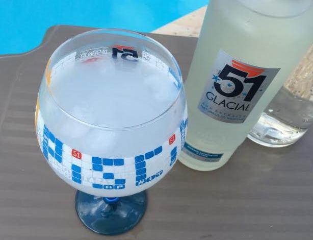 Pastis 51 Glacial - un anisé vraiment très frais.