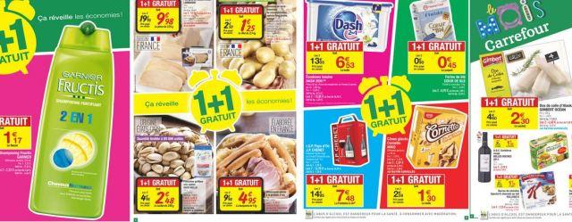 Carrefour 1 + 1 gratuit
