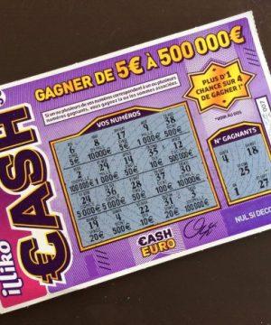Cash gagnant 500 euros