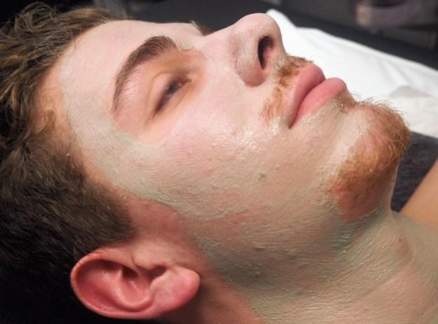 Double masque hydratant homme visage et cou