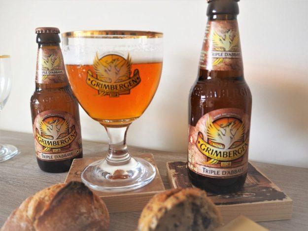 Grimbergen blonde Triple d Abbaye bière test et avis.