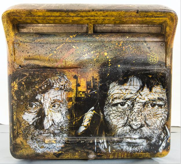 Boite aux lettres la Poste JACE (1973-), Sans titre, tableau à l'aérographe, 2017 -