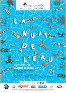 La Nuit de l'Eau 2017 UNICEF et Fédération Française de Natation