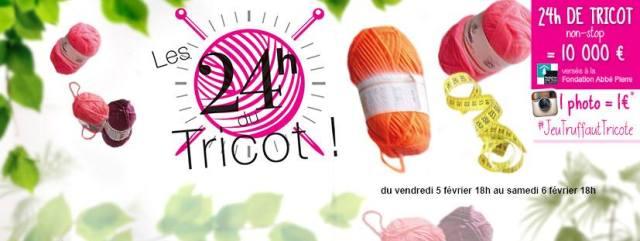 Les 24 heures du Tricot Truffaut - Fondation Abbé Pierre
