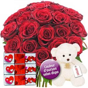 Roses Saint Valentin