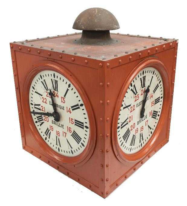 Tableau-horloge animé avec télégraphe optique de Chappe, années 1830