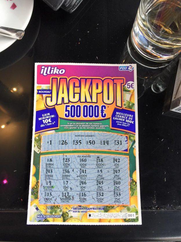 Ticket gagnant Jackpot 100 euros