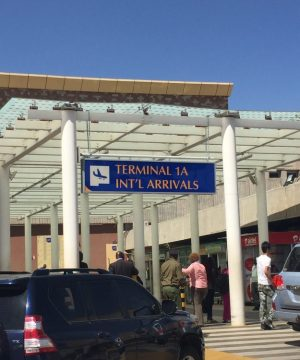 Aéroport Nairobi Kenya Carnet de voyage