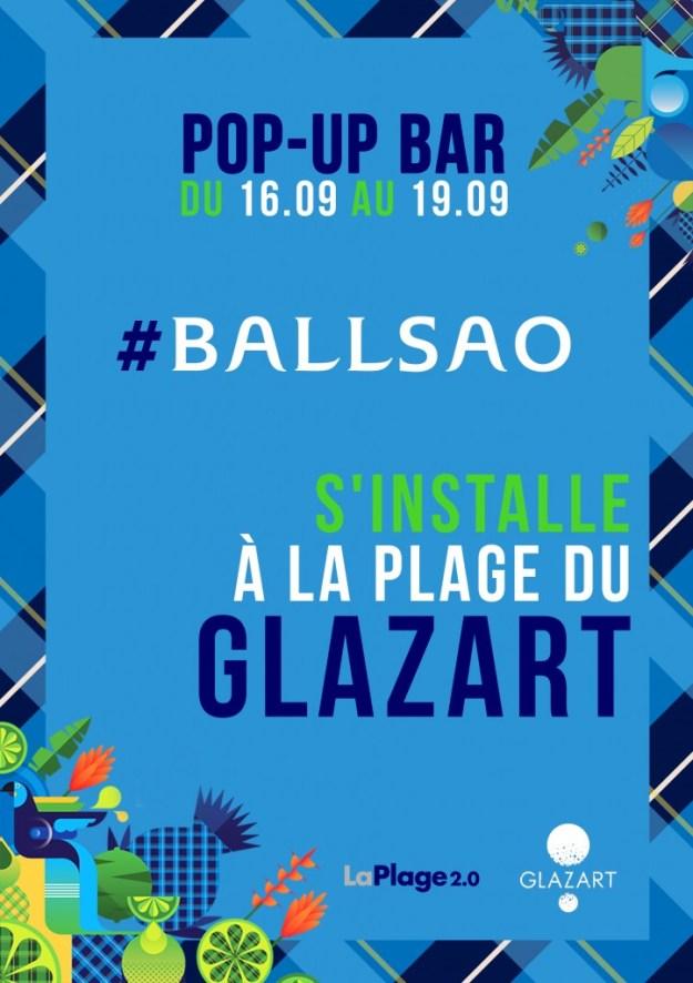 Pop-UP Bar - Ballsao s'installe à la plage du GLAZART Paris 19ème