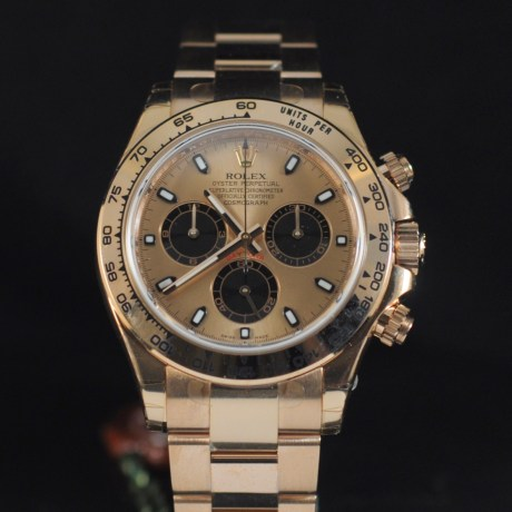 ROLEX DAYTONA PINK GOLD ref. 116505 FULL SET